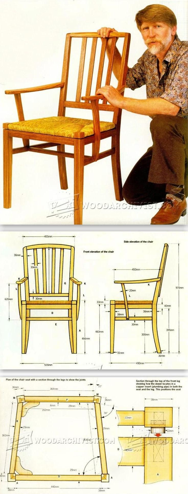 Rush Seat Chair Plans - Furniture Plans and Projects | WoodArchivist.com