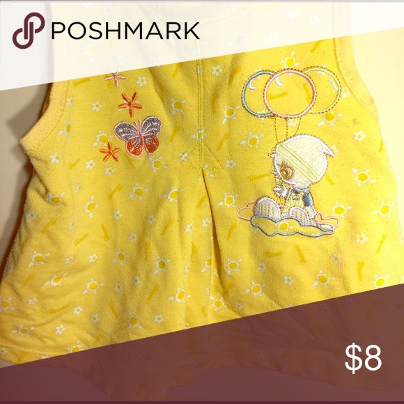 Yellow short-sleeve top with cute designs Make any day special with the cute top for kids!  It's bright and comfy. Shirts & Tops