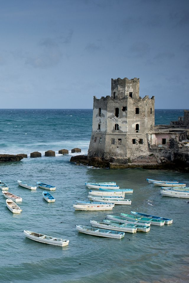 Mogadishu Lighthouse in Somalia. It is safer now to travel than 2 years ago. But still a dangerous place to visit ;)