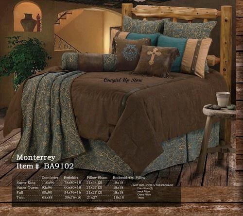 Western Monterrey Cowboy Comforter Bedding Set eBay