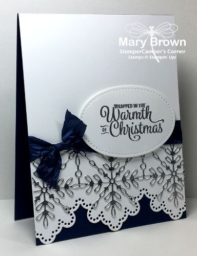 Only two days until Christmas and here at the Create with Connie and Mary Design Team Saturday Blog Hop we are celebrating the holiday by sharing blue, silver and white cards. We also have somethi…