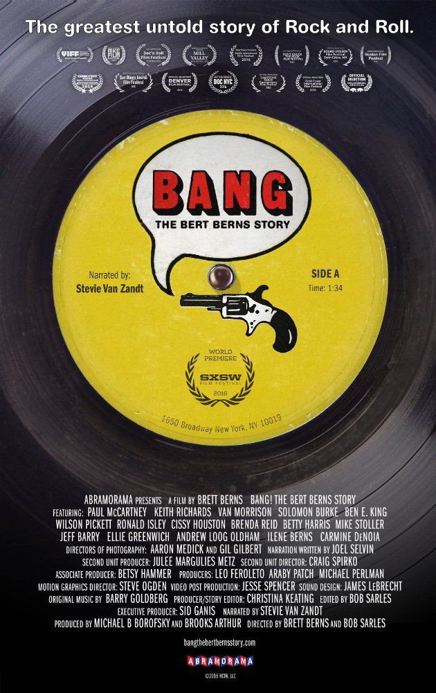 Directed by Brett Berns, Bob Sarles.  With Brooks Arthur, Jeff Barry, Solomon Burke, Carmine DeNoia. Music meets the Mob in this biography of '60s hitmaker and 2016 Rock and Roll Hall of Fame inductee Bert Berns.