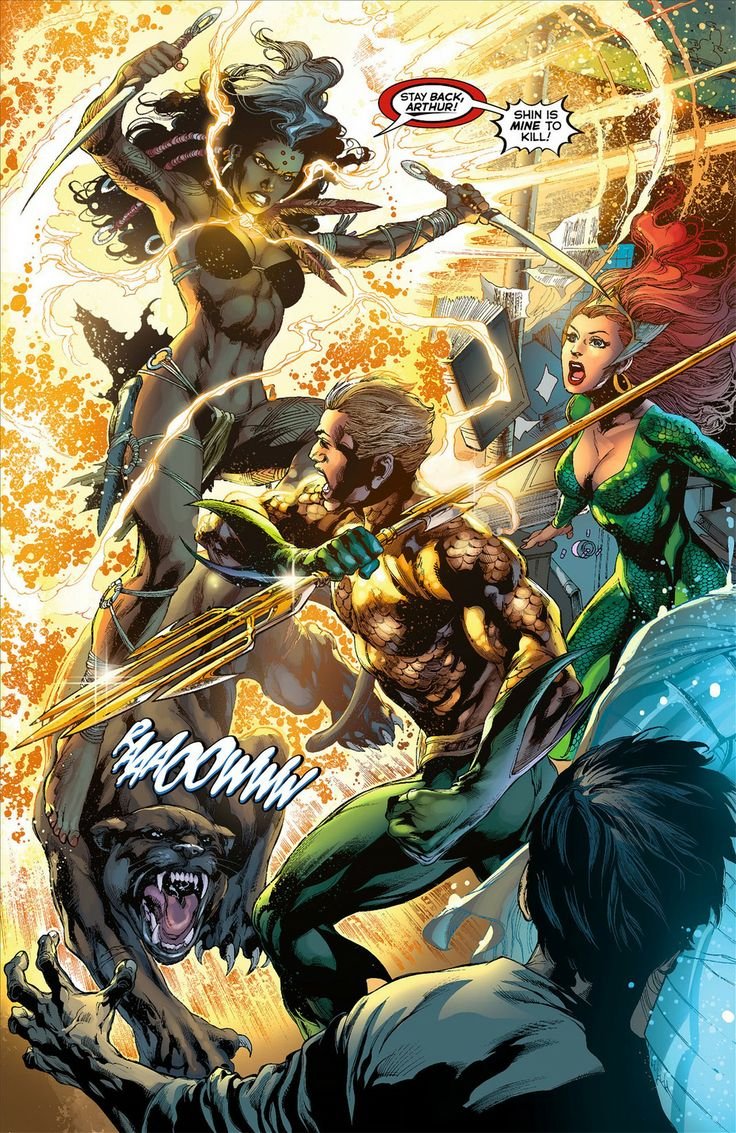 Aquaman vs The Others by Ivan Reis