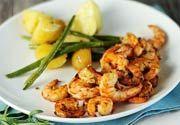 Gamberi alla Griglia con Limella - Grilled Shrimp with Lime