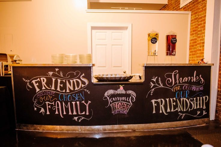 DIY Chalkboard at The River Room   Knot Too Shabby Events Wilmington, NC Event Planning & Wedding Coordination - Event Blog - Knot Too Shabby Events Wilmington, NC Wedding & Event Coordination