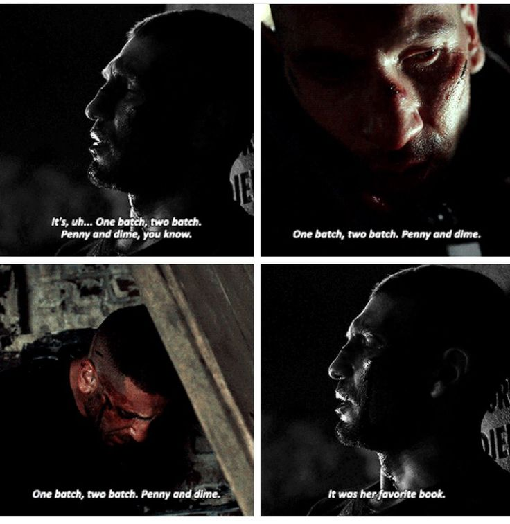 Frank castle the punisher. One batch two batch penny and a dime. Daredevil season 2