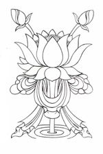 Самый известный символ буддизма – цветок лотоса (санскр. padma, тиб. pad ma) – олицетворяет чистоту и процесс ритуального очищения тела, речи и ума. Широко известно утверждение, что лотос «своими корнями уходит в грязь, а цветками в небеса». Тогда как цветки других растений, произрастающих из ила, просто плавают на поверхности пруда, лотос, благодаря силе своего стебля, возвышается над болотом земной жизни и достигает небес, олицетворяющих чистоту ума. Такое возвышение свидетельствует о…