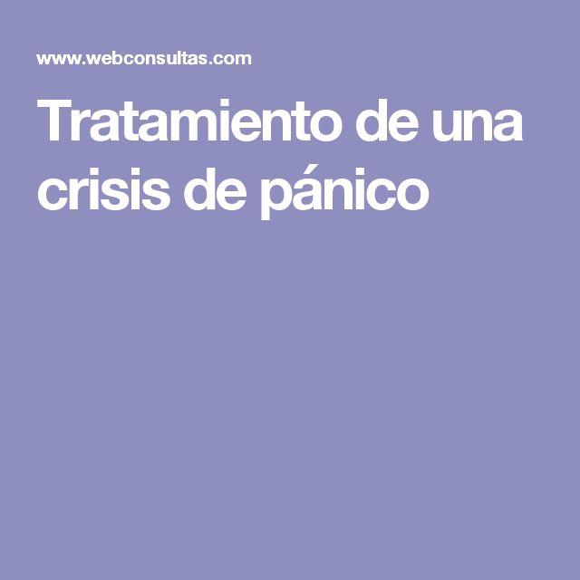 Tratamiento de una crisis de pánico