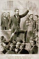 The Surprising Life of Irish Political Leader Charles Stewart Parnell: Parnell Addressing a Land League Meeting