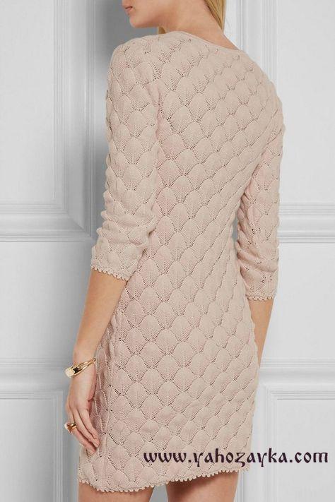 Красивый узор для платья со схемами. Узор для платья спицами   Я Хозяйка