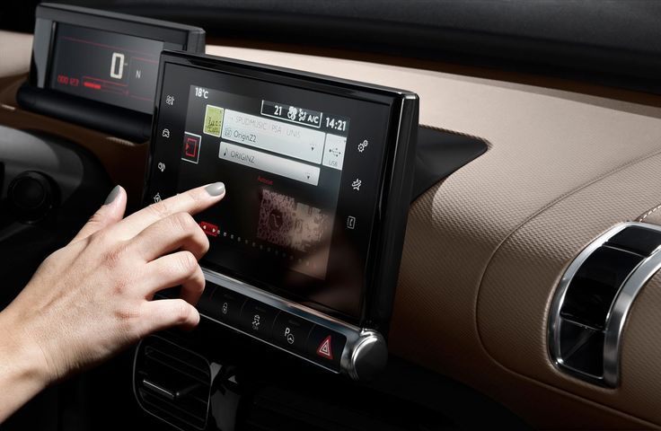 Citroen #C4Cactus: Useful Technology #Tablet #Citroën NO TEXTING WHILE DRIVING LOL