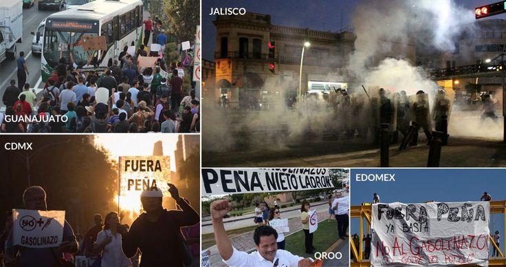 Transportistas, así como integrantes de otros gremios, activistas y ciudadanos comunes protagonizaron manifestaciones hoy en todo México para objetar el aumento a las gasolinas que entró en vigor ayer domingo, perfilándose un nuevo movimiento de oposición al Presidente Enrique Peña Nieto.