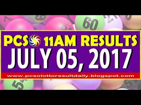 PCSO 11AM LOTTO RESULTS JUNE 05, 2017 (SWERTRES & EZ2 LOTTO)
