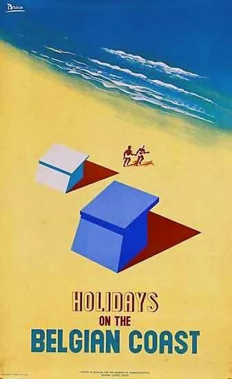 Belgian coast - Belgium #travel #vintage #poster