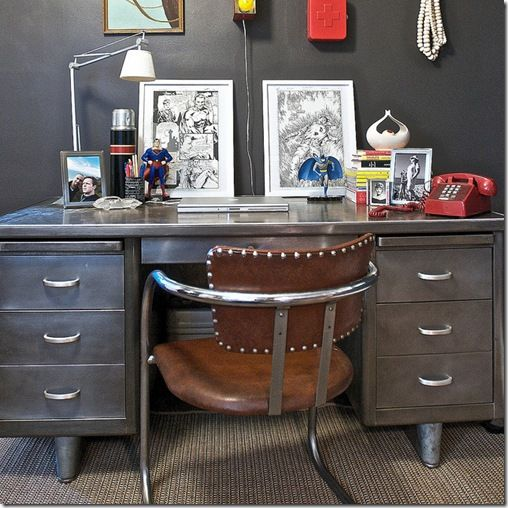 refinished metal desk: found the perfect desk to refurbish like this!
