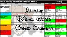 2017 January Disney World crowd calendar, park hours, show schedules, Fastpass+ dates, dining booking dates, best parks January 2017 hours will be released in mid-June January is typically a pretty…