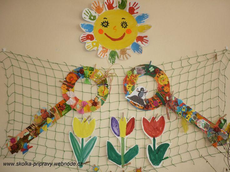 jarní tvoření ve školce, slunce  našlo klíč k jaru