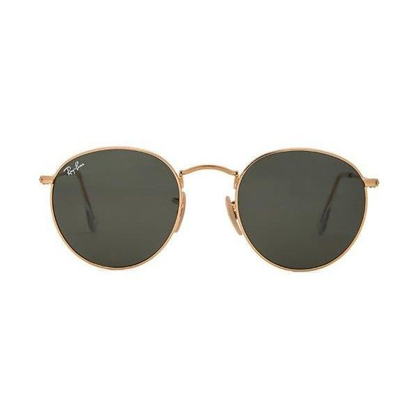 Ray-Ban Round Metal Accessories ($150) ❤ liked on Polyvore featuring accessories, eyewear, sunglasses, glasses, ray ban glasses, ray-ban, round metal frame sunglasses, rounded sunglasses and round sunglasses