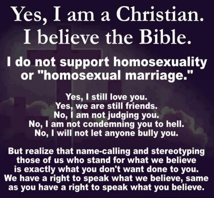Yes, I'm a Christian.