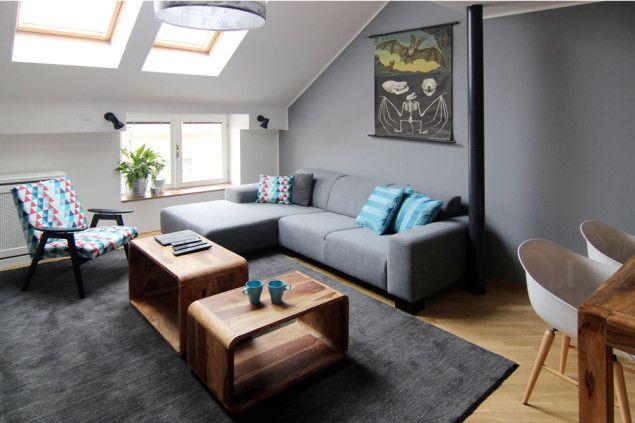 Interiér podkrovního bytu v Karlíně   studio29 - ARCHITEKTURA