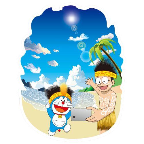 Doraemon dan Nobita sedang pergi ke Raja Ampat untuk berlibur. Seperti orang-orang kebanyakan sekarang yang suka selfie ketika sedang pergi atau berada di suatu tempat yang baru, Doraemon dan Nobita pun tidak lupa untuk selfie di Raja Ampat :D #Kaos #Desain #Baju #Design #TShirt #Doraemon #Rupawa