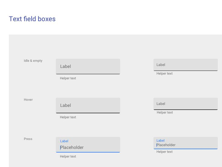 Material Design Textfield Boxes Sketch Freebie