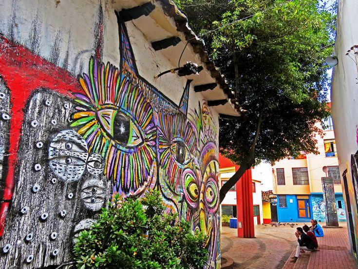 Mural por detrás del Gato Gris