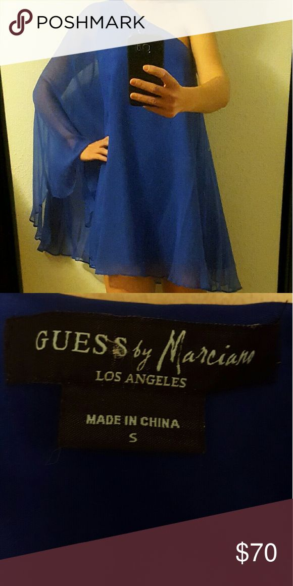 Guess Blue Chiffon Dress