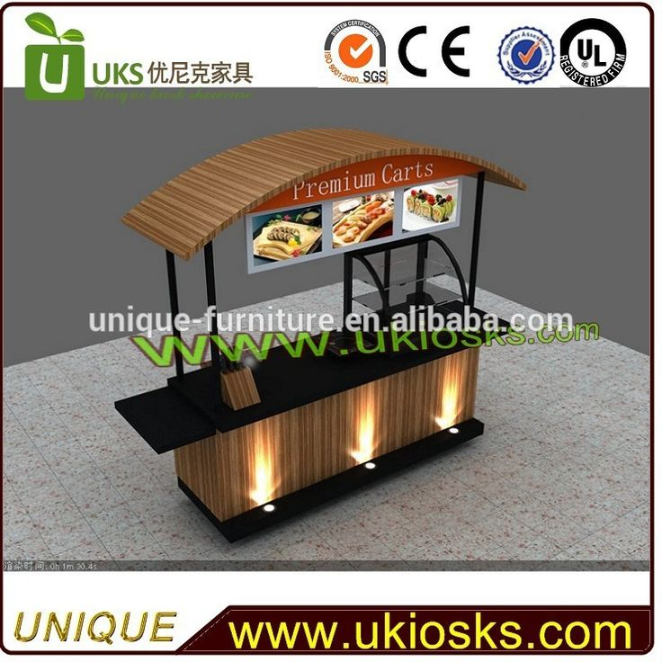 Hot selling hot dog cart coffee cart crepe cart for for Como hacer un bar de madera