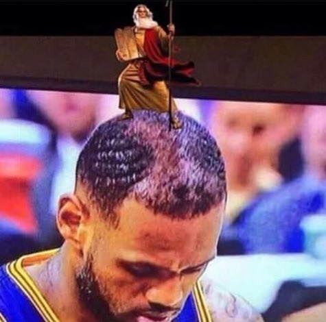 Lebron's Hairline