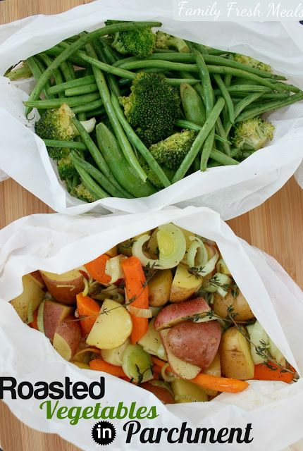 This is SO easy and mess free! How to Roast Vegetables in Parchment Paper