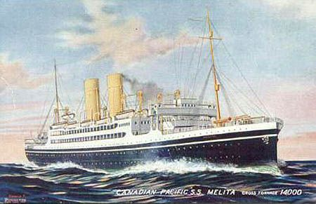CP Page 1 - Canadian Pacific Line - Ocean Liner Postcards