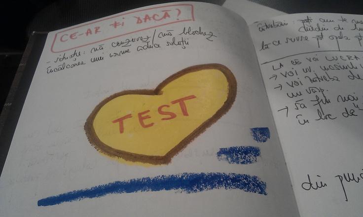 Culori folosite in test! Din agenda mea de lucru de la cursul de creativitate la care m-am inscris.