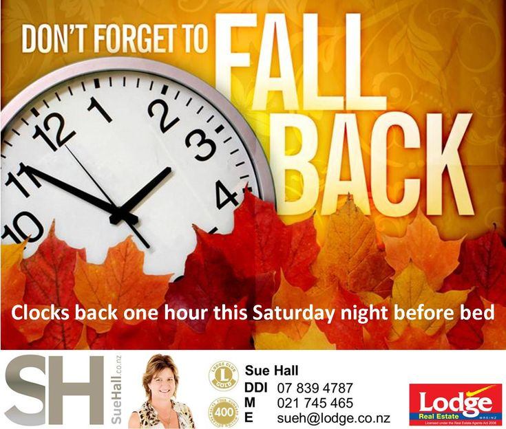 ⏰ Don't forget - Clocks back one hour tomorrow night ⏰ Winter is coming 😱❄️☃️
