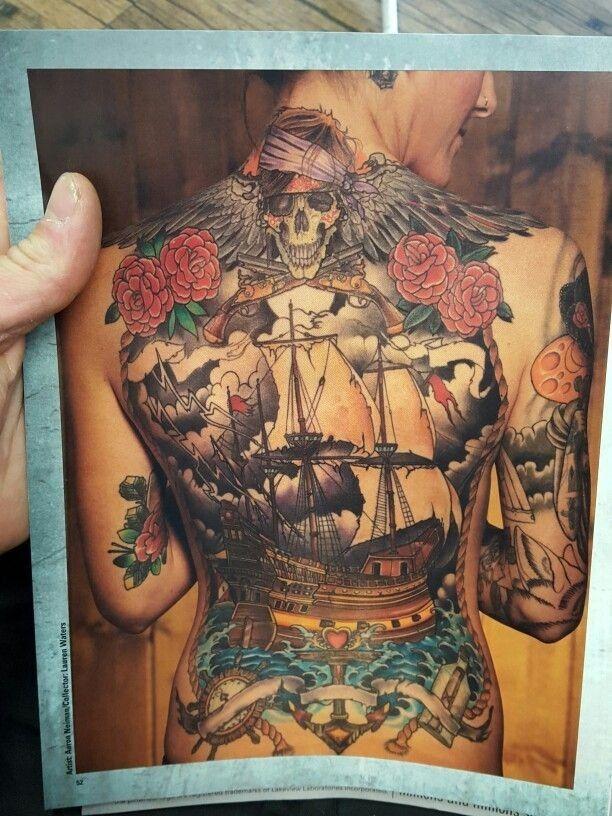 Pin By Mj Lifeablaze On Tattoo Ideas Pirate Back Piece Tattoo Back Piece Tattoo Full Body Tattoo