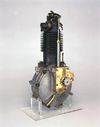 Single Cylinder Motorcycle Engine,  Early