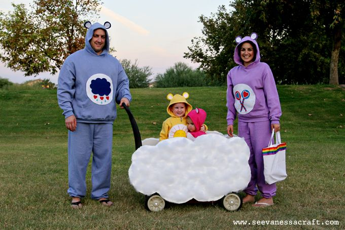 Family Costume Ideas.  Love how this one includes a wagon for carrying candy and kids!