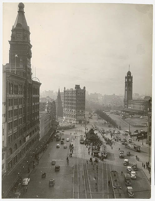 Railway Square, ca. 1945, from Walkabout : NSW photographs (Kings Cross, Sydney buildings), 1945-1967 / by unknown photographer by State Library of New South Wales collection, via Flickr