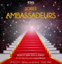 Soirée des ambassadeurs ESG au VIP Room le 27 juin 2013 pour les anciens de l' #ESGMS ! #viproom #desintegration #promo2013