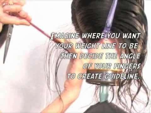 How to cut hair -  A-Line BoB Haircut step by step