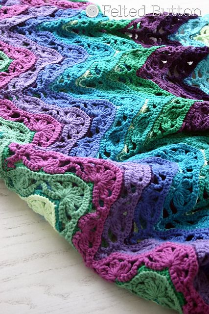 [Free Pattern]  Gorgeous Colorful Crochet Blanket! Great Stash Busters Too!