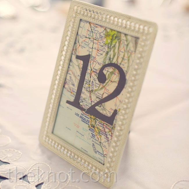 Vintage Map Table Names