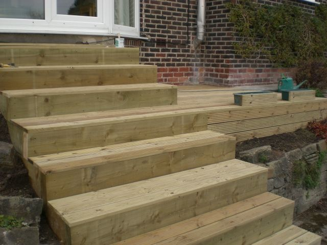 17 best images about landscaper sheffield on pinterest for Garden decking sleepers