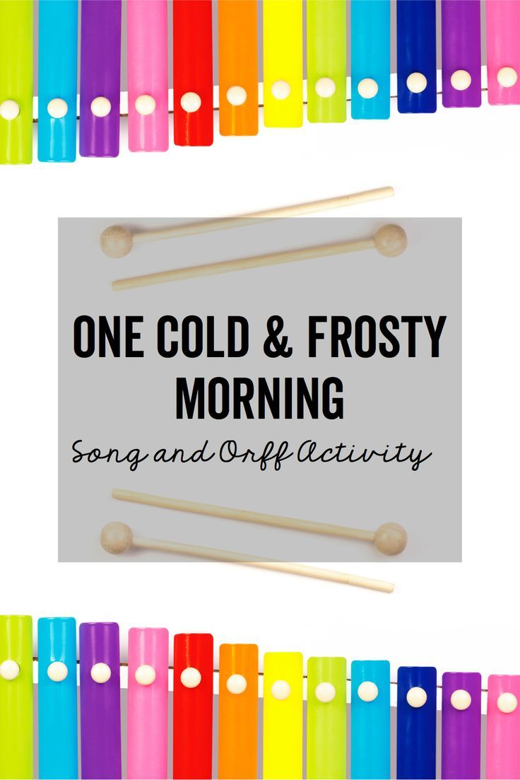 "Warm-ups and activities that help students play simple borduns as accompaniment to the song ""One Cold and Frosty Morning""."