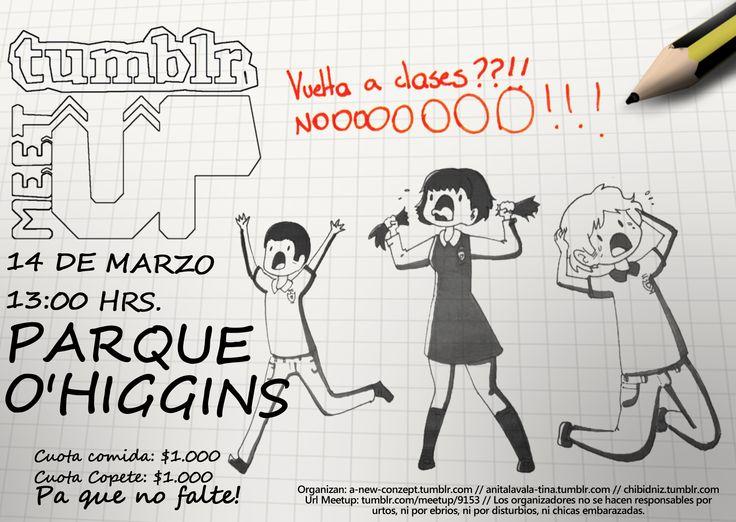 Flyer web Tumblr Meetup. Ilustracion realizada por Carotopo http://carotopo.tumblr.com/