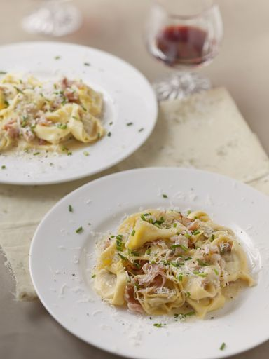 Raviolis crémeux à la pancetta : Recette de Raviolis crémeux à la pancetta - Marmiton