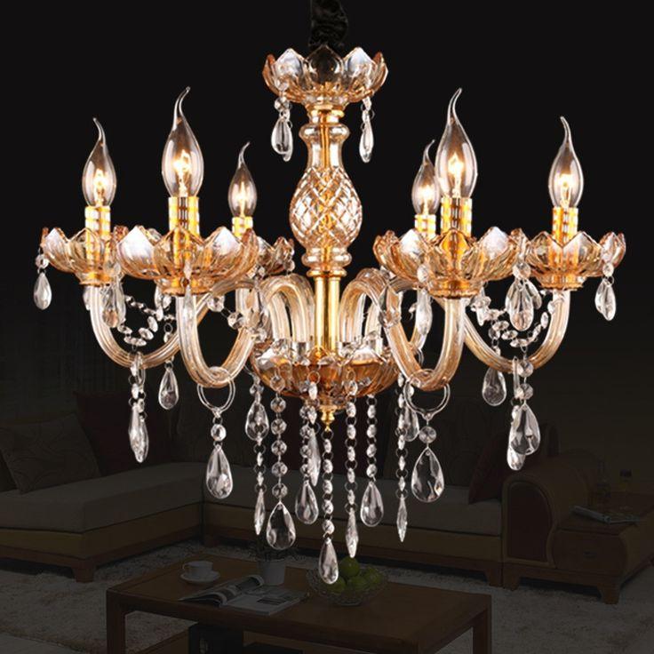 166.82$  Buy here - http://ali00f.worldwells.pw/go.php?t=32652805061 - Modern Crystal Chandelier Lustres de sala Lampada de led Luminaire led Crystal Chandeliers 6 8-light Lampadario 166.82$