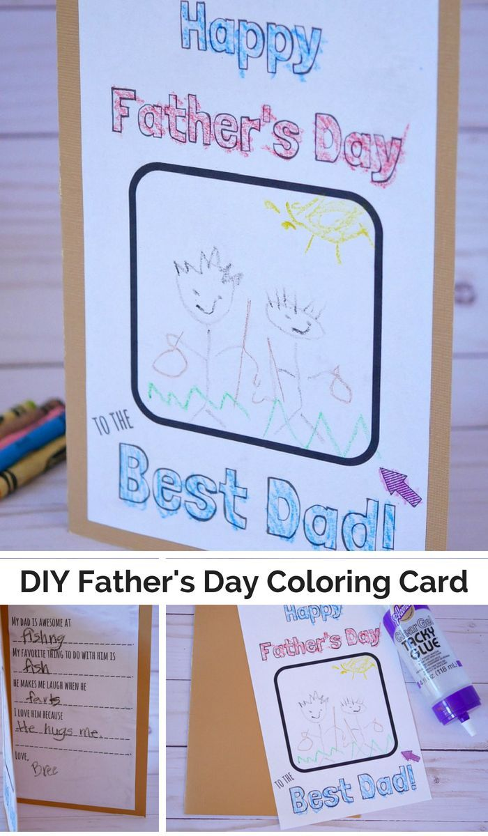 Free Diy Father S Day Coloring Card Template Father S Day Diy Fathersday Card Father S Day Card Template