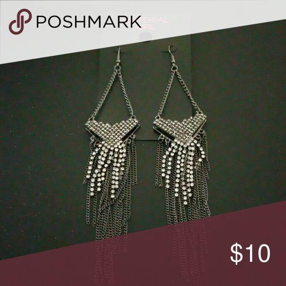 Material Girl earings Material Girl chandelier earings Material Girl Jewelry Earrings