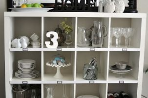 Pottery Barn Knock Off Using Ikea Expedit Storage... When I realized the storage unit I had been eying in the Pottery Barn catalog was being discontinued I begin to brainst...
